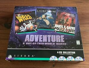 SIERRA ADVENTURE COLLECTION: New, Sealed, Wonderful Condition! Win 3.1/95 CD-ROM