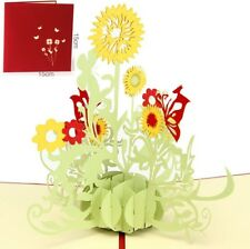 3D Pop Up Card Father's day Sunflower Beautiful Gift New Hot Greeting Cards