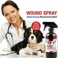 PetSilver® Wound Spray with Chelated Silver - Dog Cat Wound Care - Rapid Healing
