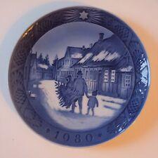 "1980 Royal Copenhagen Porcelain Plate ""Bringing Home the Christmas Tree"""