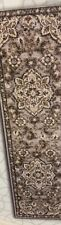 "Gertmenian, 2' 2"" x 8 ft Torino Collection Jaya Gray Brown Medallion Runner Rug"