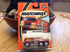 Matchbox Flame Eaters Series  Fire Crusher  # 27 Ding in bubble