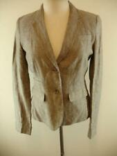 Womens 6 Banana Republic Brown 100% Linen Riding Jacket Blazer Sport Suit Coat