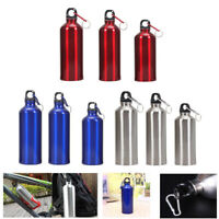 Portable Aluminum Outdoor Bicycle Sports Water Bottle Case Drinking Kettle+Lid