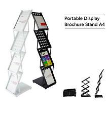 A4 Portable Brochure Stand Brochure Holder Catalogue Flyer Acrylic