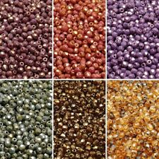 600pcs 6 colors Set Czech Fire-Polished Faceted Glass Beads Round 3 mm (3SFP305)