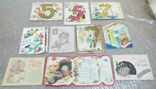More details for birthday greetings cards job lot of 10 x vintage 1930/40s used cards (c)