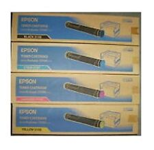 4 Original Toner Epson Aculaser C9100 C9100PS/S050195 S050196 S050197 S050198