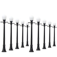 LCX04 10pcs Model Railway Lamppost lamps Street Lights O Scale LEDs NEW