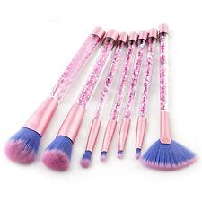 7PCS Mermaid Aquarium No Liquid Glitter Makeup Brush Foundation Cosmetics WOW