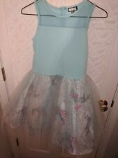 Girls Marvel Capt America Tulle Graphic Dress Size 16 Xl Cute