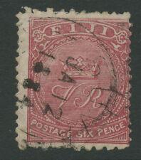 Fiji SG45 1885 6d pale rose Used