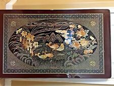 Vintage Japanese Style Folding Tea/CoffeeTable/ Coy Fish Motiff/Lacquered Finish