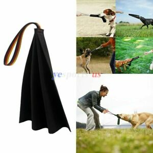 Leather Puppy K9 Dog Bite Rag with Handle Training Tug Chew Toy German Shepherd