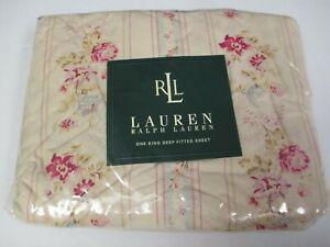 New Rare Ralph Lauren JOSIE Floral Fitted Sheet - King