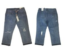 American Rag New sz 3 Destroyed Cropped Jeans Mid Rise