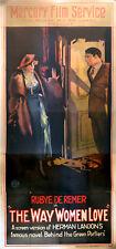 WAY WOMEN LOVE 1920 Rubye de Remer UK 3-SHEET POSTER