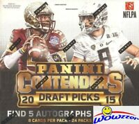 2015 Panini Contenders Draft Picks Football Factory Sealed HOBBY Box-5 AUTOS
