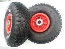 2 x Launching wheel Pneumatic wheels  20mm bearing 4.10/3.50-4   260mm width