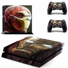 IRON Man Adesivo Skin-PS4-PLAYSTATION 4-FULL Console & 2 Controller Decalcomania