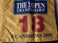 "Tiger Woods St Andrews British Open 2000 Pin Flag ""Tiger Slam"""