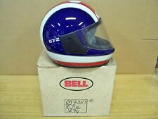 Vintage NOS Bell GT-2 Red White Blue Motorcycle Full Face Helmet 6-3/4  54 cm