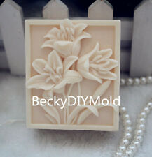 1pcs Three Lily Flower (ZX115) Silicone Handmade Soap Mold Crafts DIY Mould