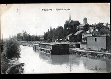 VOUZIERS (08) LAVOIR & USINE TANNERIE CORROIERIE sur Bords de l'AISNE en 1911