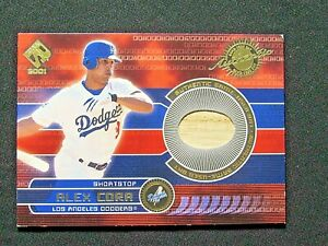 2001 Private Stock Game Gear #91 Alex Cora Bat Los Angeles Dodgers
