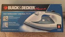 Black & Decker Cord Reel Steam Iron For Home Fabric Clothes Garment Laundry