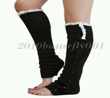 Women's Black Knit Toeless Socks (One-Size)