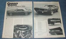 1969 COPO 9560 RS ZL-1 427 Camaro Vintage Article --From 1982--
