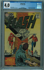 FLASH #123 CGC 4.0 FLASH OF TWO WORLDS 1ST MENTION OF EARTH 2 OFF-WHITE PAGES