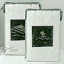 Ralph Lauren Speed & Style PAIR of Standard SHAMS Ruffle White, New 100% Cotton
