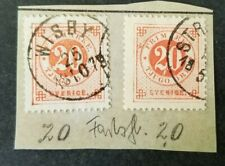 Sweden, Sverige, pair of 1877 20 ore with plateflaws