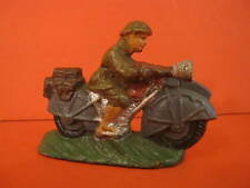 All Original Composition Motorcycle with Soldier France 1930 Mint Condition