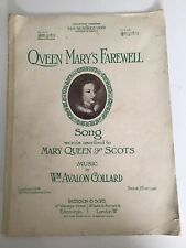 Vintage Sheet Music, Queen Mary's Song, Avalon Collard, Song, Piano