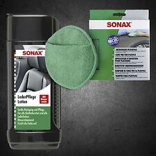 SONAX Leder Pflege Lotion 250ml  291141 und Microfaser PflegePad 417200