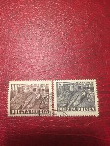 Poland Stamps 1951 USED Six Years Plan-Coal Mining (d,c)