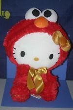 """SANRIO Hello Kitty × Sesami Street ELMO Gorgeous Big Plush Doll JPN ONLY 14.4"""""""