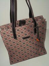 Dooney Bourke  Monogram Canvas Tote Bag Leather Trim