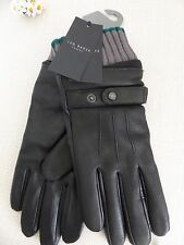 BNWT TED BAKER Black Deerskin & Sheepskin Leather Gloves  size S/M