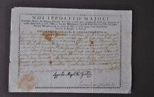 Licenza Abito Chiericale Chiesa Autografo Majoli Vicario Vescovo Reggio 1763