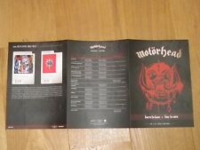 MOTORHEAD - BORN TO LOSE - LIVE TO WIN!!PLAN MEDIA / FRENCH PRESS KIT !!!!!!!!!!