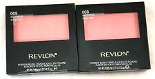 (2) Revlon Powder Blush w/ Brush New & Sealed 008 - Racy Rose 0.17 oz each