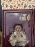 🐻 STEIFF & ENESCO TEDDY BABY BEAR PORCELAIN & Pewter Puppy Lt Ed NEW in Box!