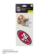 San Francisco 49 ERS 2 Autocollant Casque + Logo Décalque badge emblème NFL Football