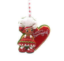 Sweet Grandaughter Gingerbread Chef Cookie Ornament Resin by Kurt S Adler