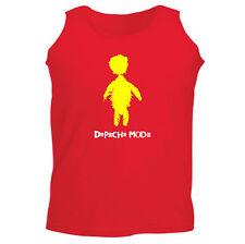 Art T-shirt, Canotta Depeche Mode, Uomo Man, Rosso