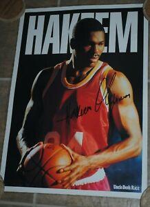Hakeem Olajuwon, Houston Rockets, PROMOTIONAL poster, Uncle Ben's Rice